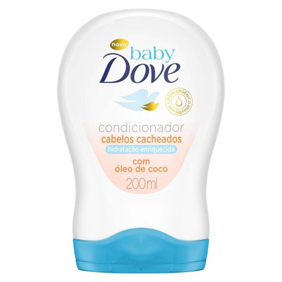 Condicionador para Cabelos Cacheados Baby Dove Hidratação Enriquecida com Óleo de Coco