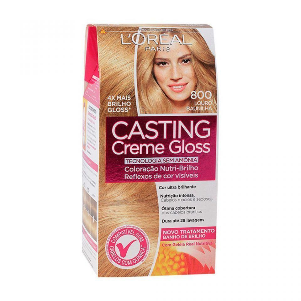 Tintura Permanente L'Oréal Paris Casting Creme Gloss 800 Loiro Baunilha